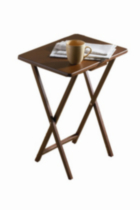 Single Tray Table - Color Walnut