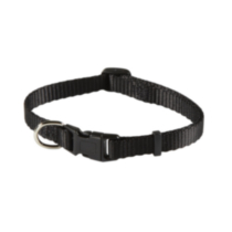 "3/8"" (9.5mm) Adjustable Dog Collar Black"