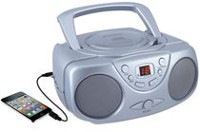 Sylvania Portable CD Player with AM/FM Radio Silver