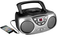 Sylvania Portable CD Player with AM/FM Radio Black