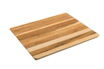 Labell Canadian Maple Wood Cutting Board - Large Utility Board with Angled Cut Edge