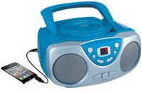 Sylvania Portable CD Player with AM/FM Radio Blue