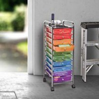 Seville Classics 10-Drawer Multi-Colour Organizer Cart