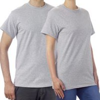 Gildan Mens T Shirt Grey M