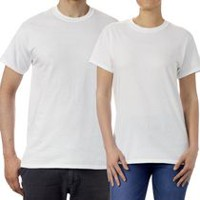 Gildan Mens T Shirt White L