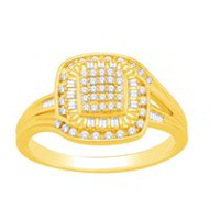 Women's 10k Gold Diamond Ring