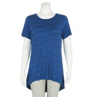 George Women's Slit Back Tee Blue L