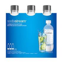SodaStream 1L Standard Carbonating Bottle Grey, 3PK