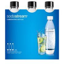SodaStream 1L Fuse Carbonating Bottle Black, 3PK