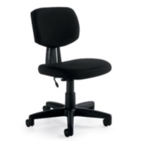 Chaise fonctionnelle sans bras Offices To Go en noir