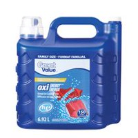 Great Value 150 loads Oxi Energy laundry detergent, 6.92 l