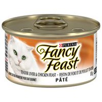 Purina(MD) Fancy Feast(MD) Pâté Festin de Foie et de Poulet Tendres Nourriture pour Chats