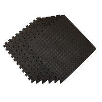 GoZone Fitness Flooring Tiles - 6pcs, Black