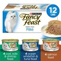 Purina(MD) Fancy Feast(MD) Assortiment Pâté Festin aux Fruits de Mer Nourriture pour Chats