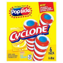 Popsicle Cyclone Ice Pops Cherry, Lemon & Blue Raspberry
