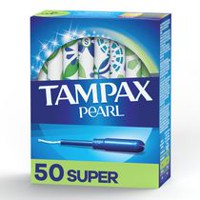 Tampax Pearl Super Plastic Tampons, Unscented