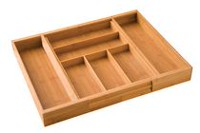 Seville Classics Expandable Bamboo Cutlery Tray