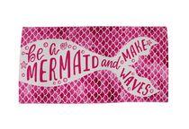 MAINSTAYS BEACH TOWEL -- Mermaid Pink