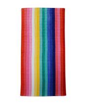 MAINSTAYS BEACH TOWEL -- Rainbow Stripe
