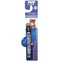 Protect Me Alert Series PMP Blue and Grey Plaid Reflective Cat Collar