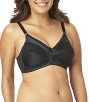 Warner's Women's Wire-Free Firm Support Bra Black 42D