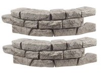 RTS Home Accents Rock Lock Wall - 2 pack Curved