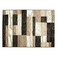 hometrends Alo Black and Beige Area Rug