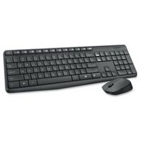 Logitech MK235 Wireless Keyboard and Mouse Grey French