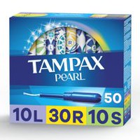 Tampax Pearl Triplepack (Light/Regular/Super) Plastic Tampons, Unscented
