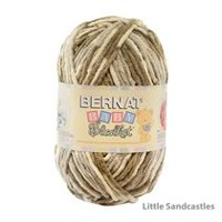 Bernat Baby Blanket Big Ball Yarn Little Sandcastles