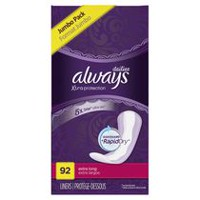 Always Xtra Protection Dailies Extra Long Panty Liners, Unscented