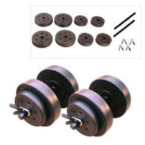 CAP Barbell 40 lbs Vinyl Dumbbell Set