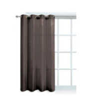 Faux Silk Window Panel with Grommets Chocolate