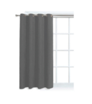 Faux Suede Window Panel with Grommets Grey