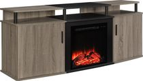 Dorel TV Console Carson Fireplace Gray