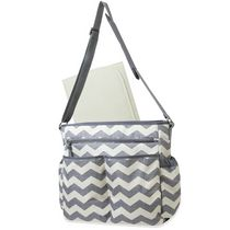 AD Sutton Baby Essentials Crossbody Diaper Bag-Grey