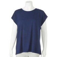 George Women's V-Neck Tee Blue XL