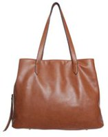 George Women's Triple Compartment Tote Bag Cognac