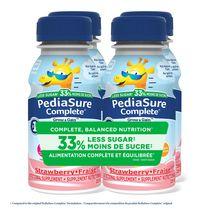 PediaSure Complete® Reduced Sugar, Supplement, 4 x 235 mL, Strawberry