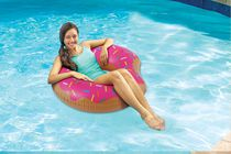 Play Day Frosted Donut Pool Float - Strawberry