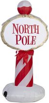 Airblown Self-Inflatable Garden Decor North Pole Sign in French and English