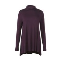 George Women's Turtleneck Tunic Purple M