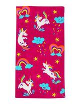 MAINSTAYS BEACH TOWEL -- Unicorn