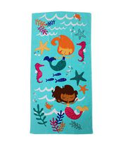 MAINSTAYS BEACH TOWEL -- Mermaid Friends