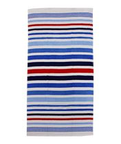 MAINSTAYS BEACH TOWEL -- Stripe Blue Red