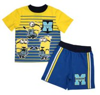 Minions Toddler Boys' Graphics Short Sleeve 2 Piece T-shirt 5T