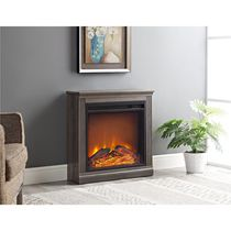 Dorel Bruxton Electric Fireplace Brown