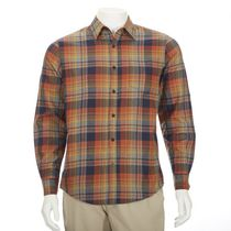 George Men's Flannel Shirt Orange S/P