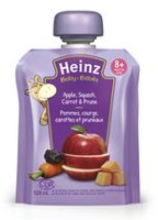 Heinz Junior Apple Squash Carrot Prune Pouch Baby Food