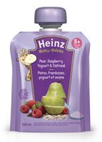 Heinz Junior Pear Raspberry Yogourt Oatmeal Pouch